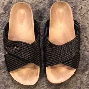 Loeffler Randall Petra sandals. Leather slides